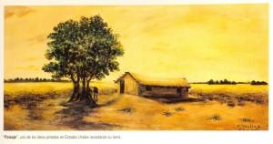 Paisaje, Florencio Molina Campos