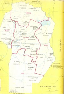 Mapa político de la provincia de Córdoba