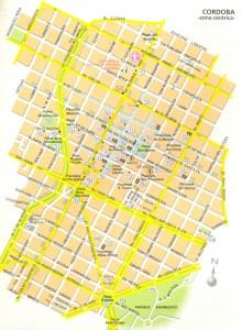 Córdoba: plano centro y Nueva Córdoba