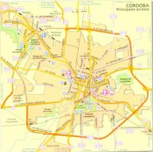 Plano de Accesos a Córdoba capital