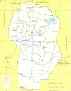 Mapa de los ríos de Córdoba