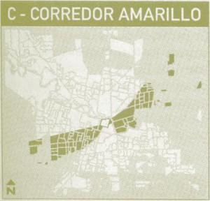 corredor amarillo transporte urbano de la ciudad de Córdoba