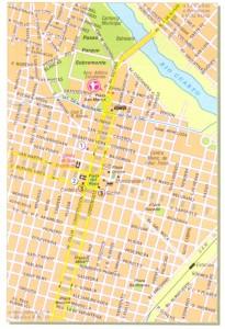 plano centro de Río Cuarto